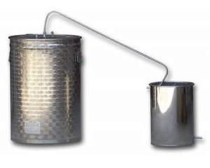 Distillatore alambicco in acciaio inox nuovo con garanzia