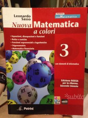 Libro scolastico matematica