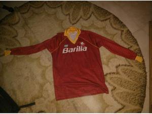 Maglia calcio as roma barilla nr originale anni '80 giocata