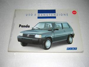 Manuale uso e manutenzione Fiat Panda, anno