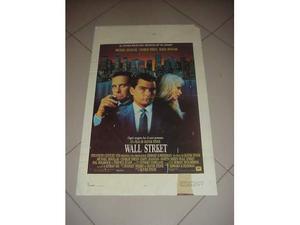 Wall Street locandina manifesto del film x collezionisti