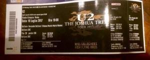 1 biglietto Concerto U2 Roma 16 luglio tribuna monte Mario