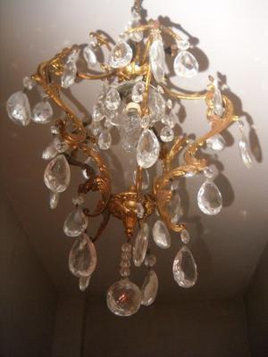 Lampadario vintage color oro