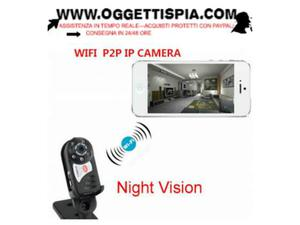 Mini telecamera spy wireless wifi ip spia sorveglianza