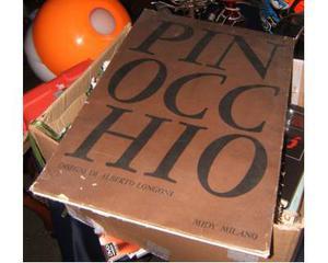 Pinocchio - libro illustrato longoni originale d'epoca