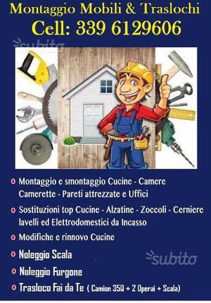 Smontaggio & Montaggio con Servizio Scala