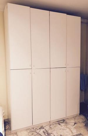 Armadio 4 ante in legno color bianco
