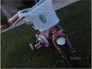 Bicicletta bambina come nuova con rotelle