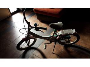 "Bicicletta bici bambina 16"" bimba rosa senza rotelle"