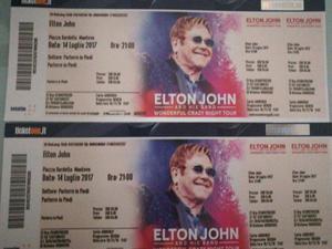 Biglietti concerto di Elton Jonh 14 luglio Mantova