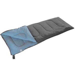 Camp Gear Sacco a Pelo Populair 200x80 cm Grigio e Blu