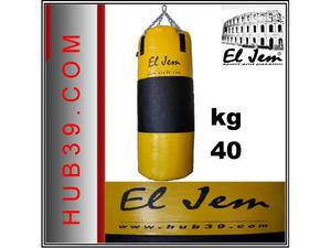 Sacco boxe h 100 kg 40 con Fascia in Pelle - Made in Italy