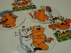 4 adesivi ISIDORO  GARFIELD lotto stickers anni 80