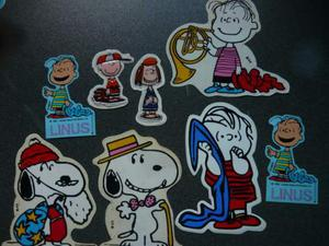 ADESIVI snoopy PEANUTS virca hallmark anni 80 stickers