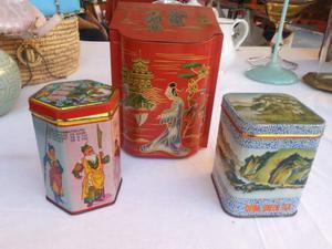Lotto 4 scatole di latta vintage anche PAVESI