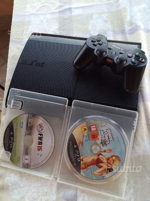 Ps3 slim nera + joystick + GTA5 + FIFA15