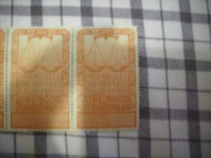 Valori marche francobolli doppi