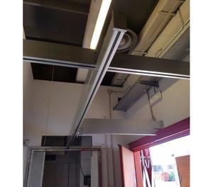 cella frigo TN per macelleria con guidovia e bilancia