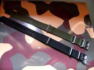 2 cinturini orologi tipo NATO in tessuto-naylon