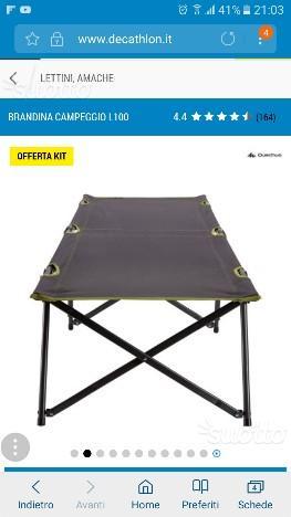 Brandina trasportabile con materasso posot class for Brandina da campeggio ikea