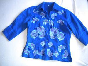 Camicia in lino bluette - Tg. S