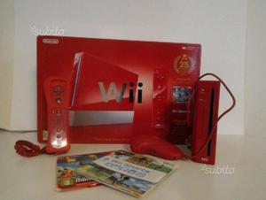 Nintendo wii rossa 25 anniversario edizione