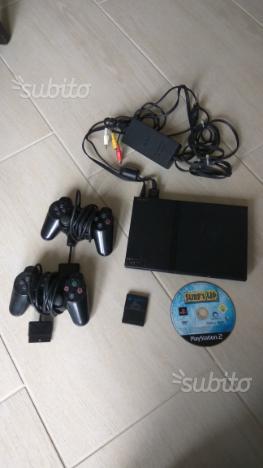 Playstation 2 slim con joystick e gioco
