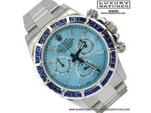 ROLEX Daytona  blue sky diamond dial Full Set