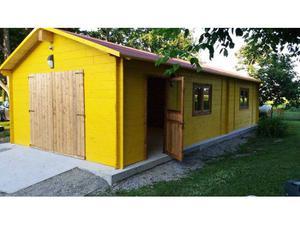 Casa prefabbricata in legno mq 50 su ruote3 posot class for Casetta prefabbricata cemento