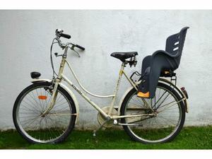 Bicicletta legnano donna con seggiolino bambino