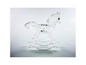 Cavallo A Dondolo Swarovski.Bambola Silver Crystal Swarovski Posot Class