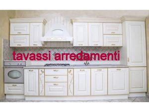 Cucina classica lineare color avorio metri 3 posot class for Abitare arredamenti giugliano