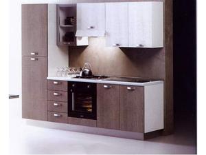 Cucina moderna larice grigio e bianco