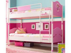 Letto a castello per principesse (90x200 cm) - Princess