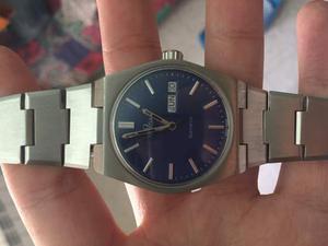 Orologio omega vintage anni 70 acciaio quadrante blu