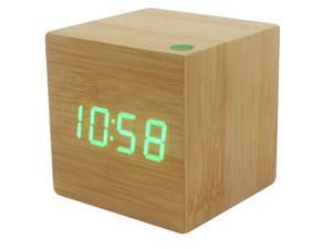 Orologio sveglia cubo di legno
