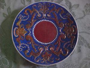 Piatto Ceramica firmato Carocci e Fabbri - Gubbio