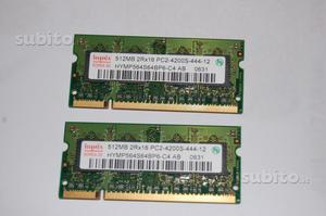 RAM 512 MB DDR 2 per notebook