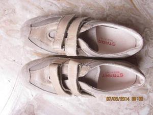 Scarpe Starry con strappi di colore beige, N. 38