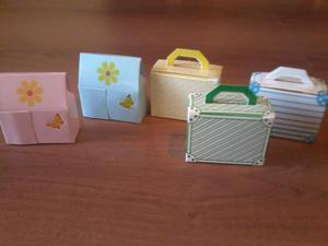 Scatoline portaconfetti in cartone di varie forme e colori