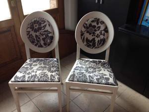 Sedie in legno colore bianco imbottite uso casa o Ufficio