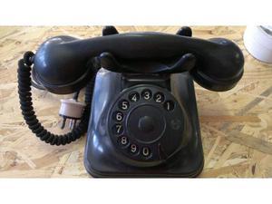 Telefono face in bachelite nero funzionante anni70