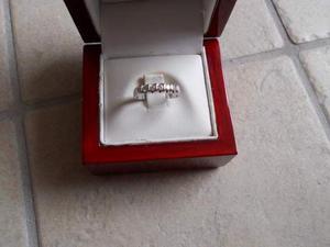 Veretta in oro bianco 18 kt diamanti naturali