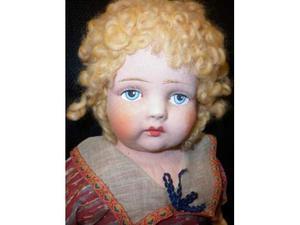 Antico bambolotto scatola originale