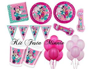 Kit festa Minnie dots, per 32 persone
