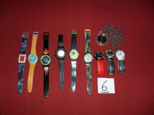 Lotto n6 di 10 orologi originali usati da collezione swatch
