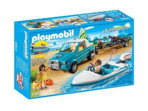 Playmobil  serfisti con pick up e motoscafo