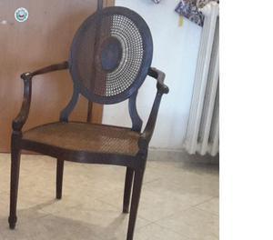 Poltrona di classe con schienale in paglia posot class - Sostituire seduta sedia ...