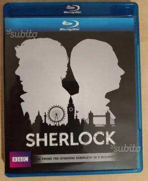 Sherlock Blu Ray Prime 3 Stagioni