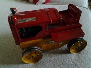 Trattore giocattolo in latta sommavilla hp350 anni 60